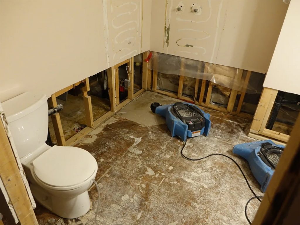 Sewer Backup in Finished Basement Repair